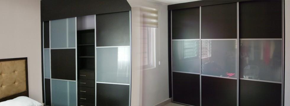 Clóset con vidrio laminado